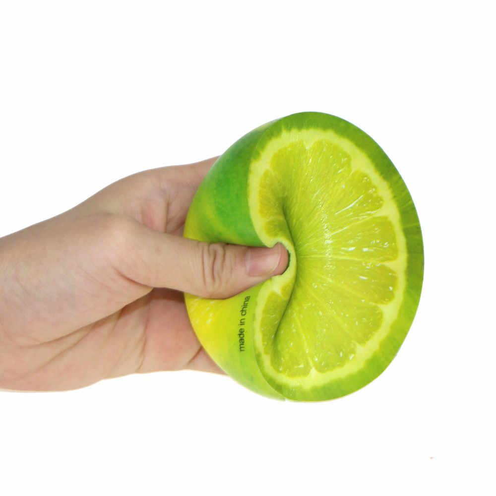الغذاء لذيذ البرتقال بطيئة ارتفاع لعبة ضد الإجهاد المعطرة ضغط لعبة العملاق السكويشيز الإجهاد الكرة