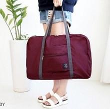 Купить с кэшбэком 2018 High Quality Folding Travel Bag Nylon Travel Bags Hand Luggage For Men And Women New Fashion Duffle Bag Travel