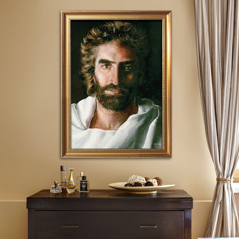 Jesus Christ Impression Jesus print painting on Canvas Poster and print of Jesus wall art pictures for living room home decor01