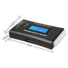 Battery Tester Digital LCD Display PC Computer 20/24 Pin Power Supply Tester Checker Power Measuring Diagnostic Tester Tools