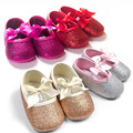Fashion baby girl shoes Hot sale girl first walkers Bling baby girl shoes for 0-12 month baby Gold/Pink/Silver/hot pink colors