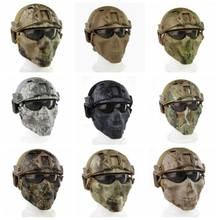 OUTDOOR U.S. TACTICAL PJ TYPE FAST HELMET MASK GOGGLE COMBINATION FOR HUNTING PAINTBALL MILITARY MOTORCYCLE COSPLAY MOVIE PROP(China)