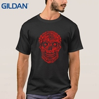 Cheap Sale Uniform Skull Skate Jerseys Famous Purple T Shirt Male Round Neck Tee Shirts 100% Cotton