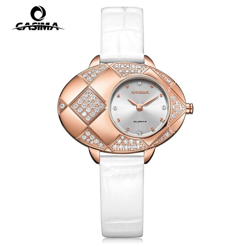 лучшая цена Fashion luxury brand watches women Fashion Casual womens Quartz wrist watch Waterproof relogio feminino CASIMA #2621