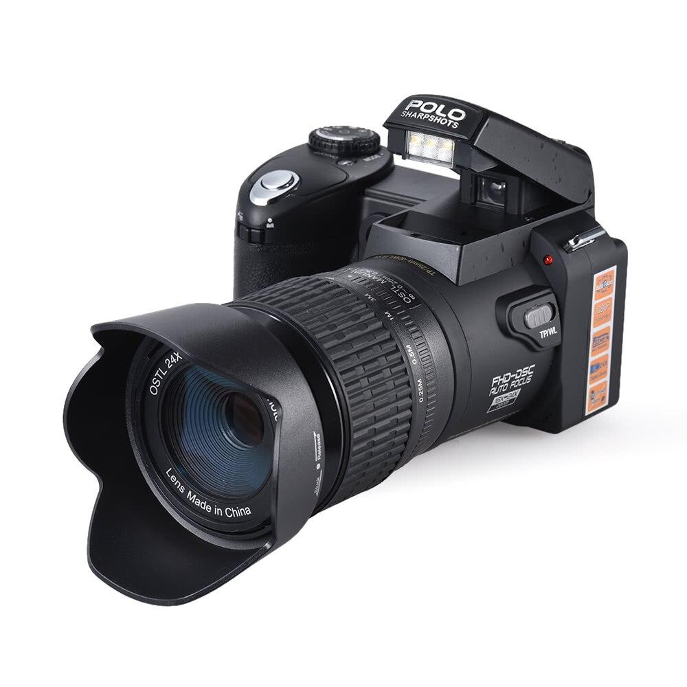 Professionnel POLO appareil Photo numérique Pixels Autofocus Zoom Photographie Photo Vidéo Caméscope 33MP HD 1080 P 24X Téléobjectif Téléobjectif