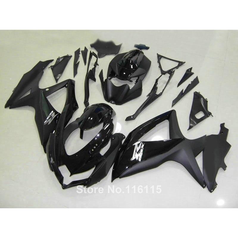 Fairing kit for SUZUKI K8 GSXR 600 700 2008 2009 2010 Injection molding all glossy black GSXR600 GSXR750 08 09 10 fairings VQ49 пена монтажная mastertex all season 750 pro всесезонная