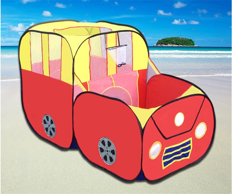 Car Model Play Game House Children Tent 156*75*95 cm, Cute Large Play Tents for Kids Birthday Gift