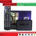 O envio gratuito de 1 Mês Mag250/Mag245 MAG250 IPTV subscrição de software com 1 PCS Originais/MAG245 MAG CAIXA de IPTV