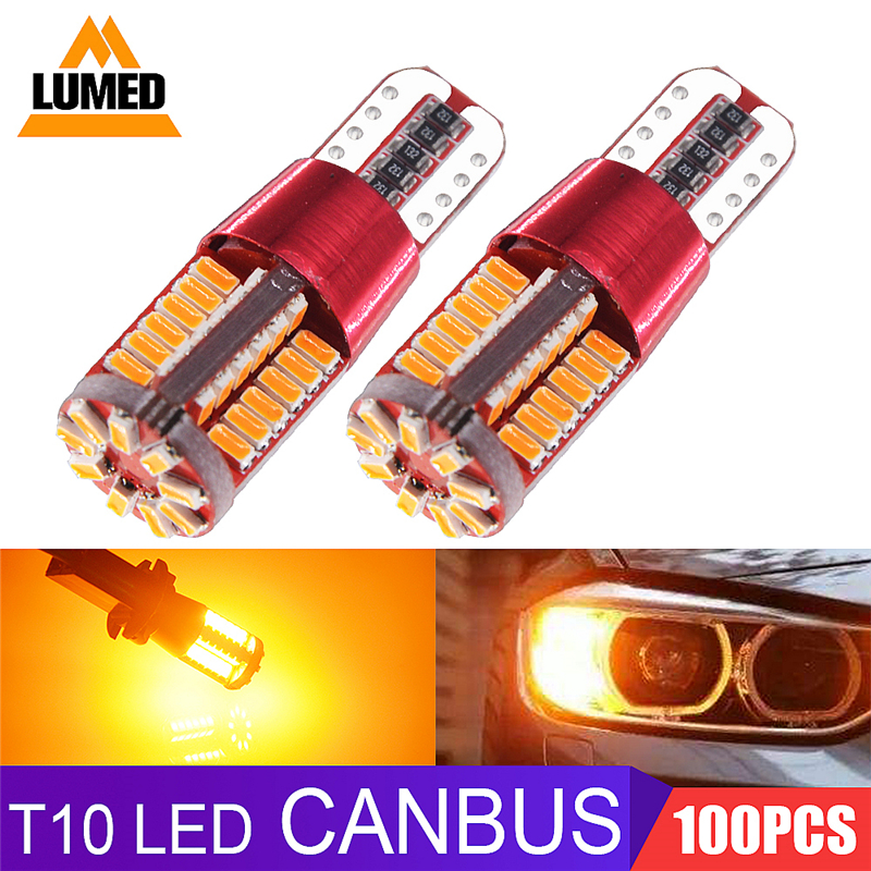 100x CANBUS T10 194 168 W5W 3014 SMD 57 LED Clearance Light Parking lamps Side Light
