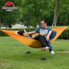 Single / Double Person Portable Parachute Hammock Camping Hiking Garden Flyknit Hunting Leisure Outdoor Travel Kits Hamac Tent