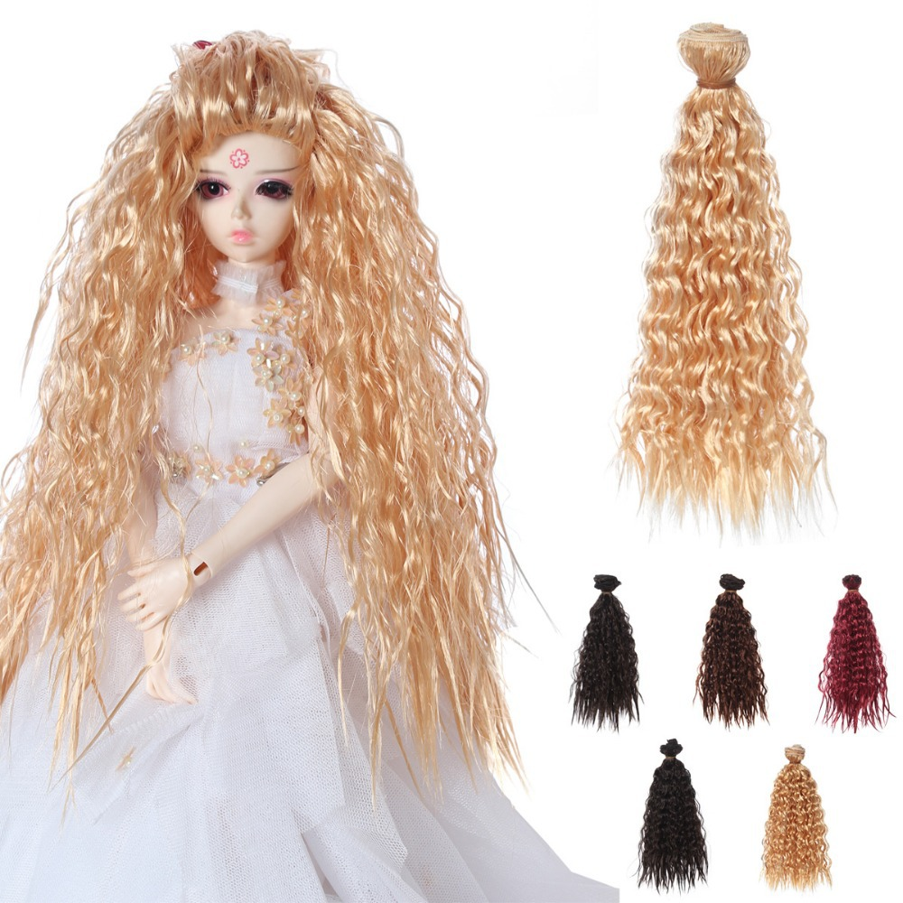 10Pcs lot 25 100cm Fantastic Imitation Wool Roll Coil Wig For 1 3 1 4 BJD