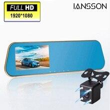2016 neue 1080 P Auto Blauen Rückspiegel Kamera Dvr Volles HD Digital Video Recorder Mit Zwei Kameras Auto Dash Cam Black Box