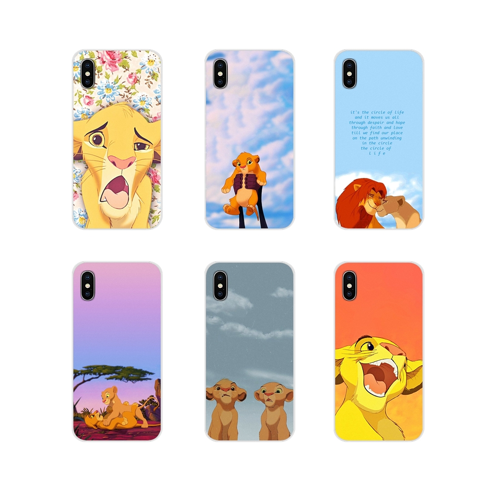Transparent TPU <font><b>Case</b></font> Simba Funny Face <font><b>Lion</b></font> <font><b>King</b></font> Floral For Apple <font><b>iPhone</b></font> X XR XS MAX 4 4S 5 5S 5C SE <font><b>6</b></font> 6S 7 8 Plus ipod touch 5 <font><b>6</b></font> image