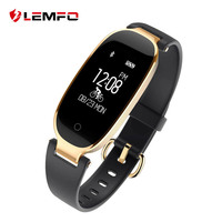 LEMFO S3 Fashional Smart Band Bracelet Heart Rate Monitor Wrist Smartband Lady Female Fitness Tracker Wristband
