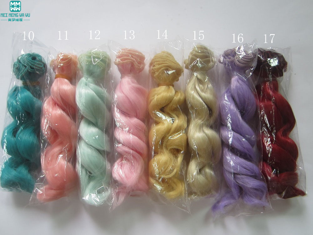 1pcs 15cm*100CM Natural curls Hair for dolls for 1/3 1/4 BJD/SD diy Accessories things for dolls