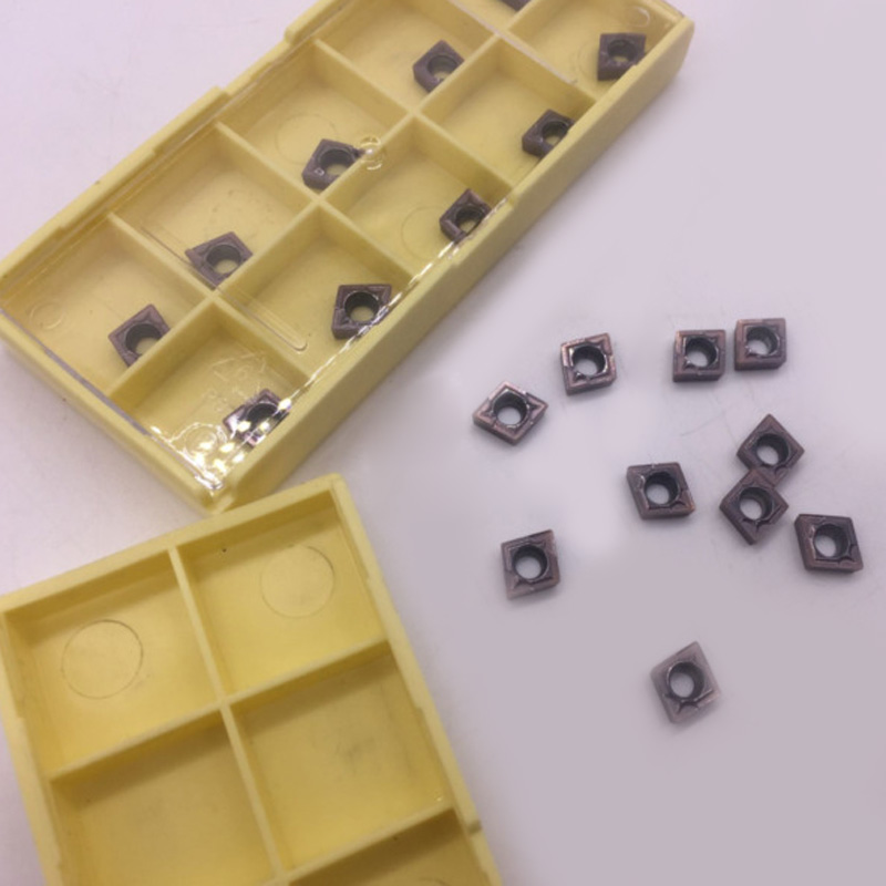 100pcs Carbide Inserts CCMT060204 VP15TF CCMT21.51 Insert Carbide Milling Cutter Metalworking Tool Parts Replacement