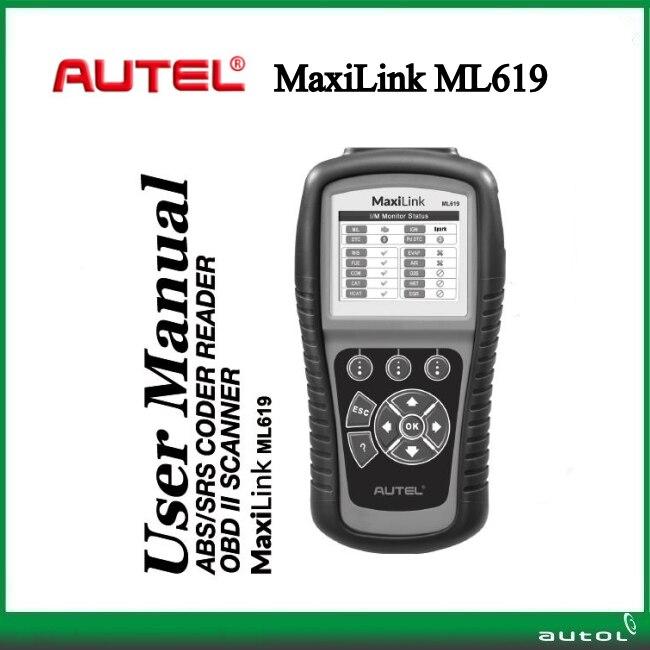 Autel OBD II car diagnostic tool Maxilink ML619 Support Update Online ABS/SRS Code Reader ML 619 Original code scanner