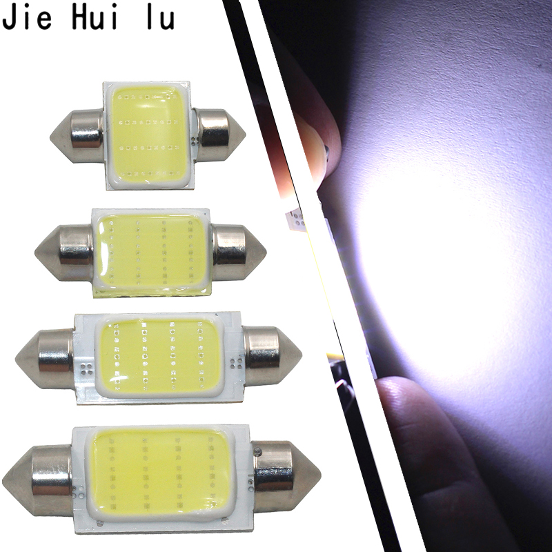 1pcs 31mm 36mm 39mm 41mm COB LED Bulb C5W C10W Car Dome Light Auto Interior Map Roof Reading Lamp DC12V White Color цены