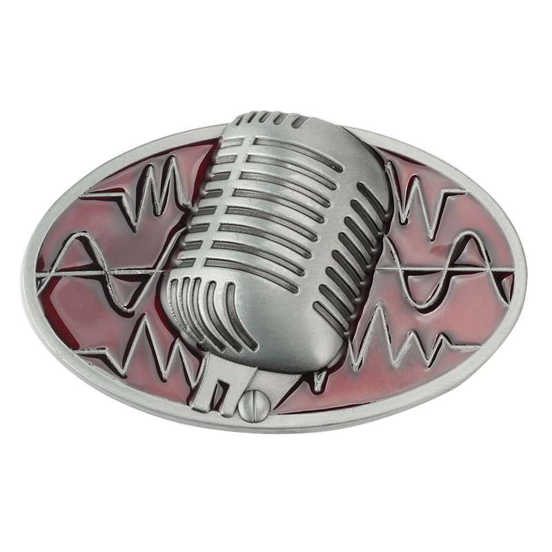 Microphone Music Belt Buckle Smooth Buckle Fashion And Personality