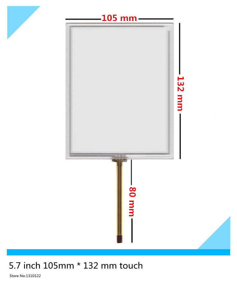 5.7 inch industrial touch screen Resistive Touch Screen Digitizer Handwritten screen display on the outside for Launch X431 GX3 стоимость