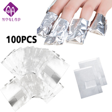 100Pcs Aluminium Foil Remover Wraps with Acetone Nail Art Soak Off Acrylic Gel Nail Polish Removal