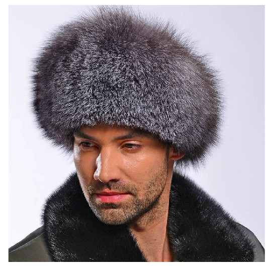 59809d7a639 Original Russian roller shapka fur hat Silver   Blue RANCHED Fox natural  leather-in Fedoras from Apparel Accessories on Aliexpress.com
