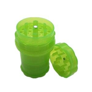 Image 5 - Plástico contador de tabaco erva spice grinder 4 camadas cor aleatória ervas fumaça spice crusher caso transparente presente plástico fornecimento vendas