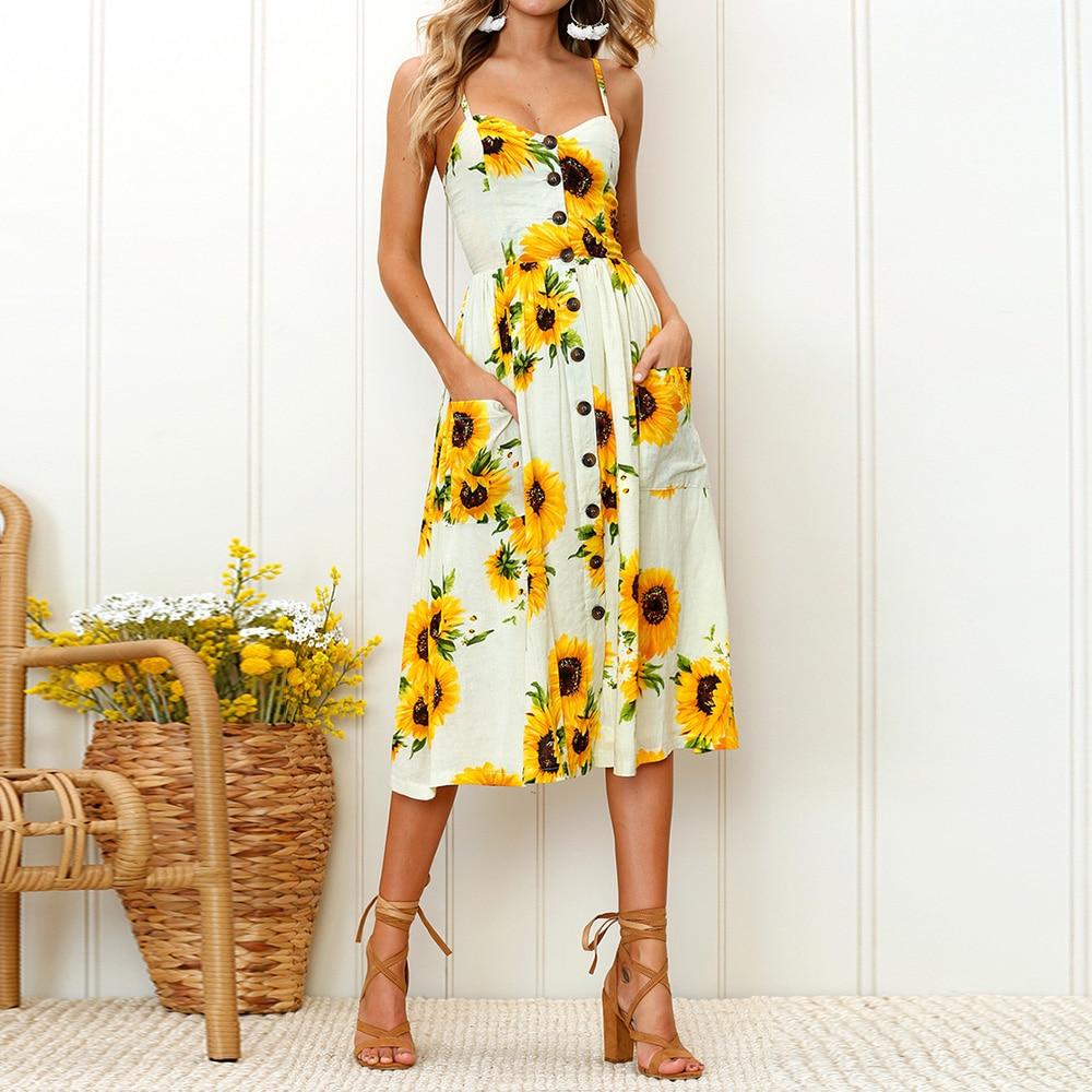 Dresses Summer Fashion 2018 Summer New Beach Dress Pattern Printed ...