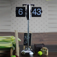 2018 Best Selling Retro Auto Flip Clock Vintage Libra Page Turning Digital Desk Clock Table Watch for Home Decoration