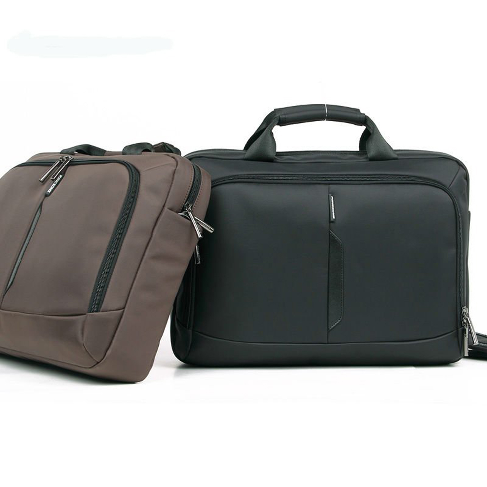 Kingsons Waterproof Nylon Men Business 14.1 inch Laptop Handbag Office Briefcase Durable Shockproof Shoulder Messenger Bag