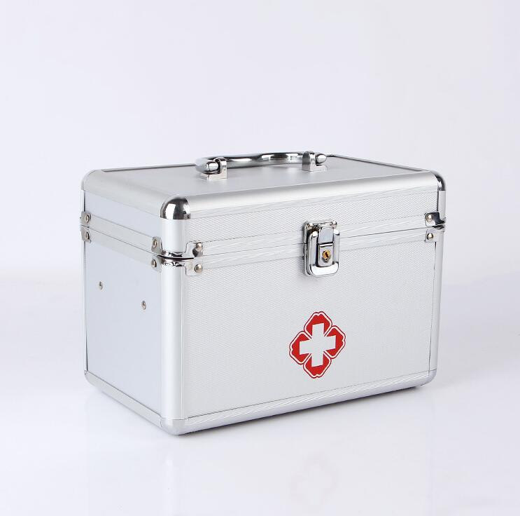 Household multi-layer separation portable storage first aid aluminum alloy medicine box цена
