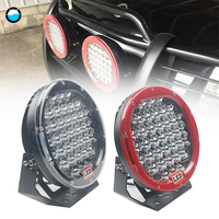 Round 9 inch LED Work Light Bar 185W led work light For SUV ATV 4WD Spot flood beam Red black led driving lights