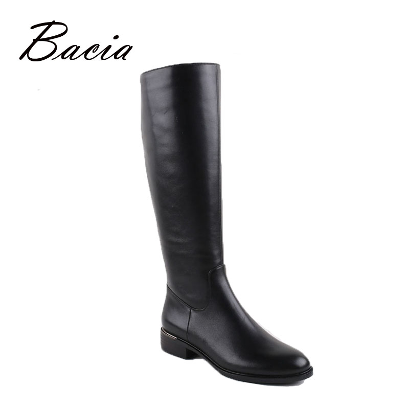 Bacia Russion original design Boots Knee-high Platform Boot Genuine Leather Quality Shoes Handmade Short Plush Women Botas VC001