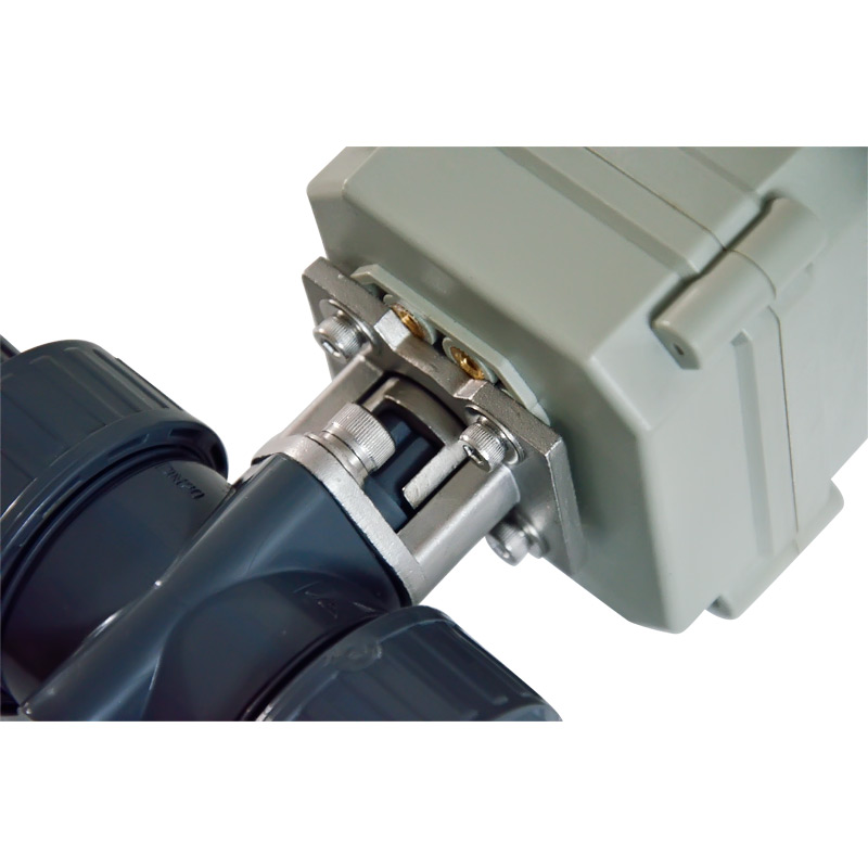 TF50-P2-C, 12V, 24V 2/3/5 Wires BSP/NPT 2'' PVC 2 Way DN50 UPVC Actuator Valve 10NM On/Off 15 Sec Metal Gear For Water Treatment ac110 230v 5 wires 2 way stainless steel dn32 normal close electric ball valve with signal feedback bsp npt 11 4 10nm