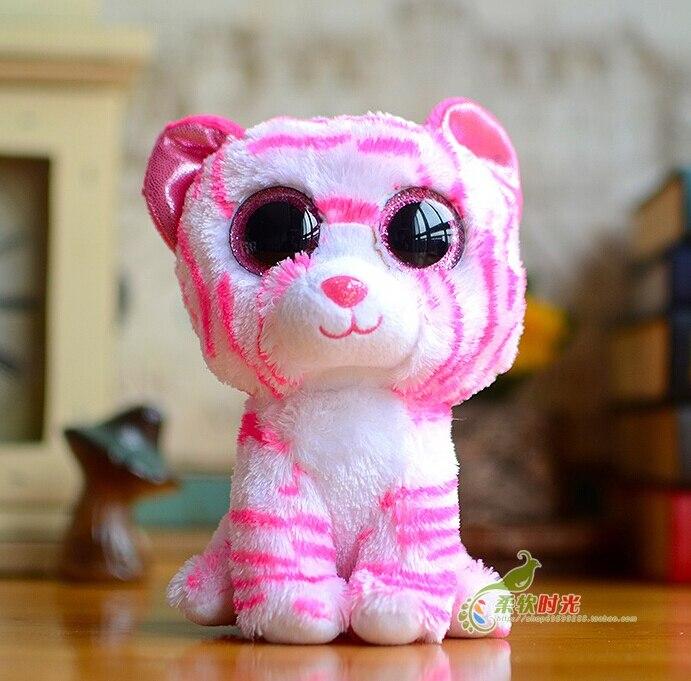 Stuffed Animal Kids Toys Big Eyes New Pink Tiger Doll Baby Plush Toy