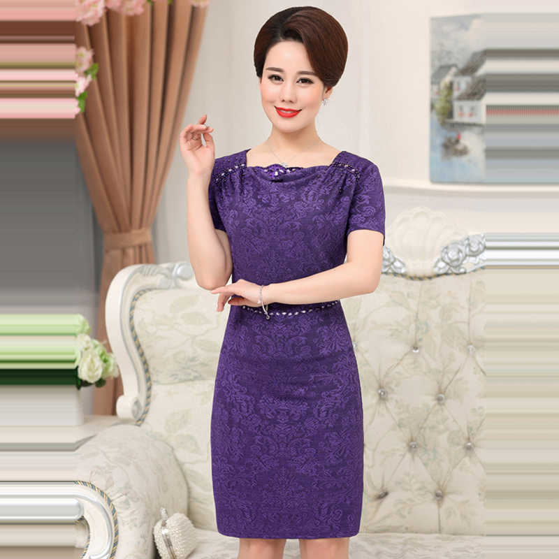 ... It s Yiiya Mother of the Bride Dresses Plus Size Purple Short Sleeve  Pearls Fashion Designer Elegant ... 0427ac641ce2