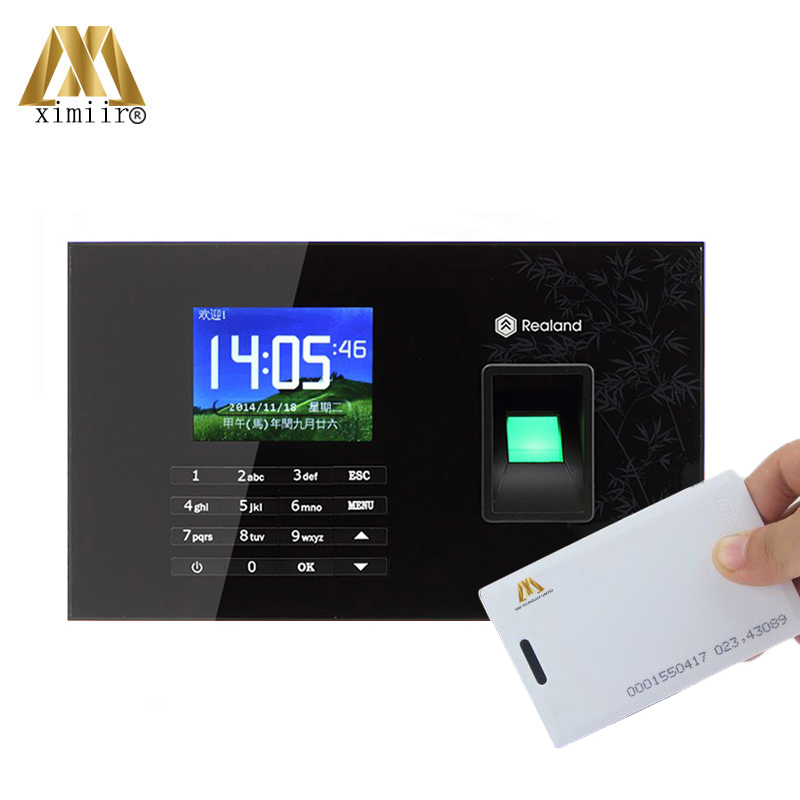 Color Screen TCP/IP Fingerprint Time Attendance A-C051 Time Recording 125KHz RFID Card Reader Support P2P Function
