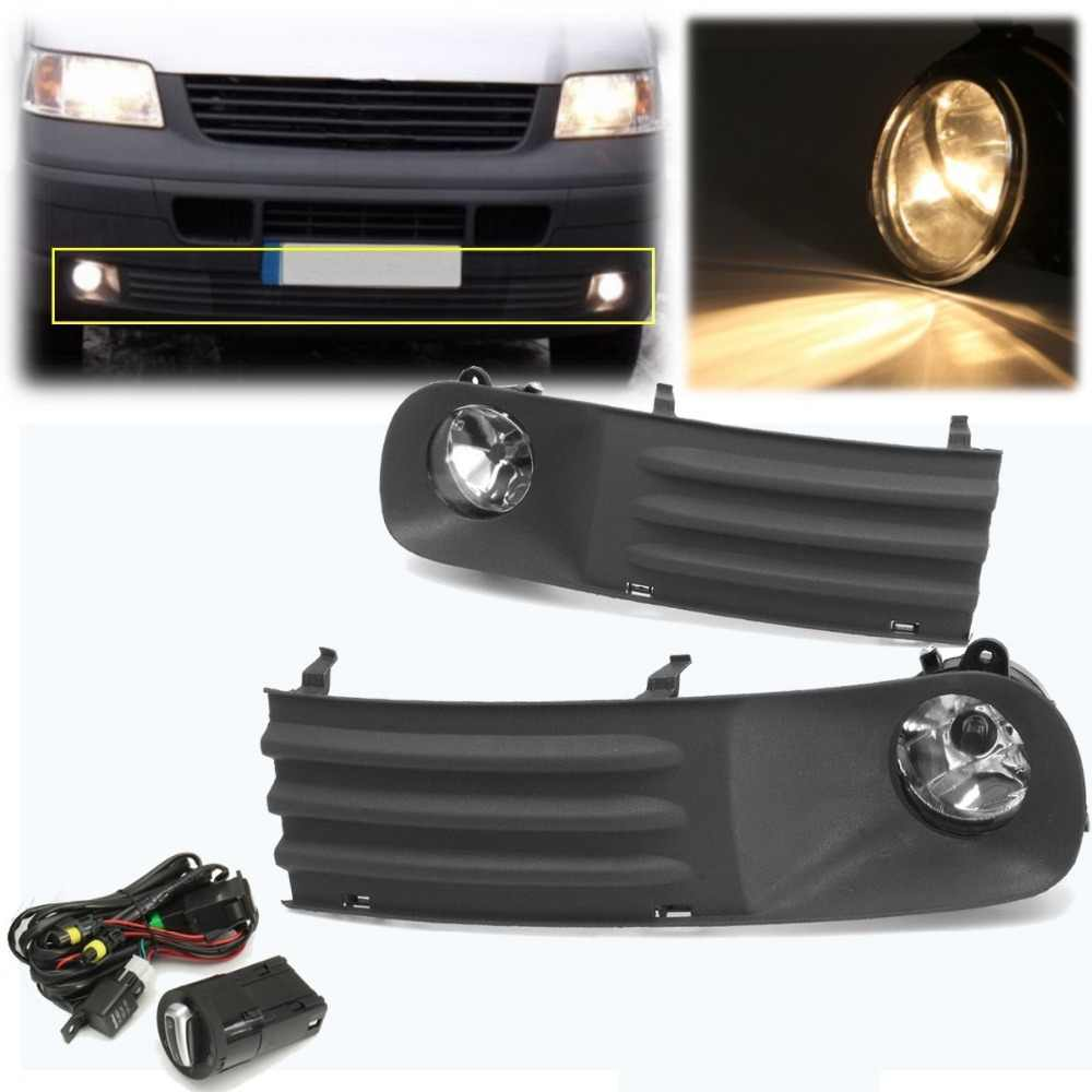 small resolution of  55w front left right foglight grille kit set w wiring headlight switch for vw t5