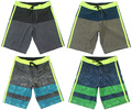 Fashion 4Way Stretch Boardshorts Mens Quick-dry Beachshorts Plus Size Bermudas Shorts Man Striped Casual Shorts Board Shorts NWT