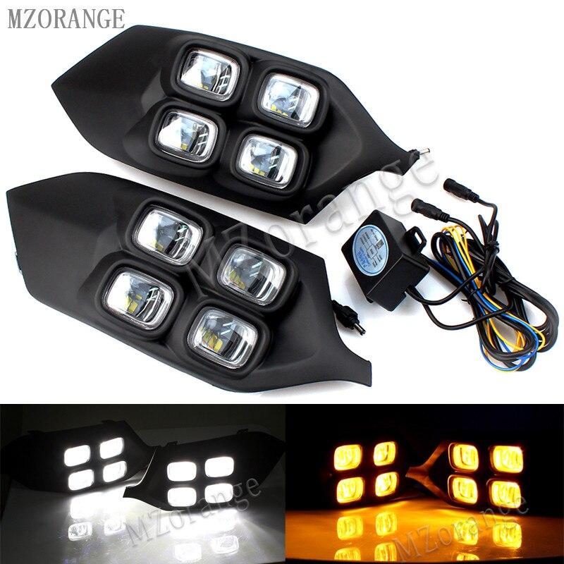 MZORANGE 4 глаза супер Яркость автомобильные аксессуары ABS 12 В светодиодный дневного света DRL лампы для Mitsubishi Pajero Sport 2016 2017
