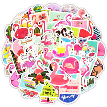 Etie 50pcs/pack Car Decoration Mixed Label Art Graffiti Sticker Fashion Flamingo & Cartoon Dinosaur Decal Fridge Luggage Laptop(China)