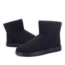 Для женщин сапоги Лидер продаж зима Боты для пар круглый носок женская обувь без шнуровки из мягкой Ботильоны Твердые назад