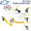 cnc foldable brake clutch lever yellow dirt bike clutch brake lever FOR SUZUKI  DRZ 400 S/SM 00 01 02 03 04 05 06 07 08 09 10 11