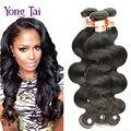 Produtos de cabelo Rosa Brasileira onda do corpo do cabelo virgem 6A 3 bundles lot preto natural onda do corpo Brasileiro extensão do cabelo humano cabelo