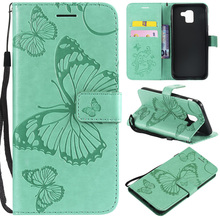 3D Butterfly Leather Flip Wallet Case For Samsung Galaxy J8 J7 J6 J5 J4 J3 J2 J1 2016 2017 2018 Plus Prime Pro Core Phone Cover все цены