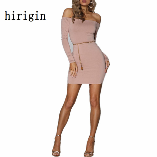 christmas party dresses 2017 women autumn sexy bandage bodycon off shoulder long sleeve hollow out mini