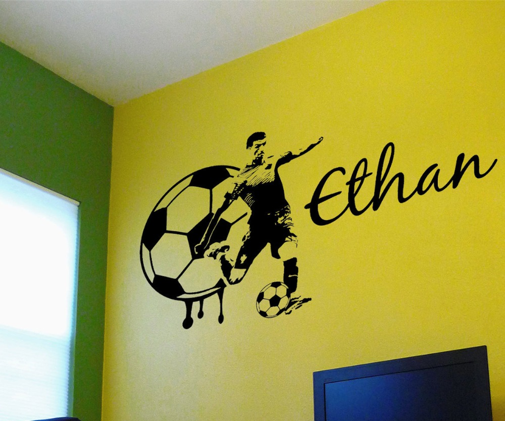 Soccer Decal Custom Name Large Soccer Player wall decal vinyl ...