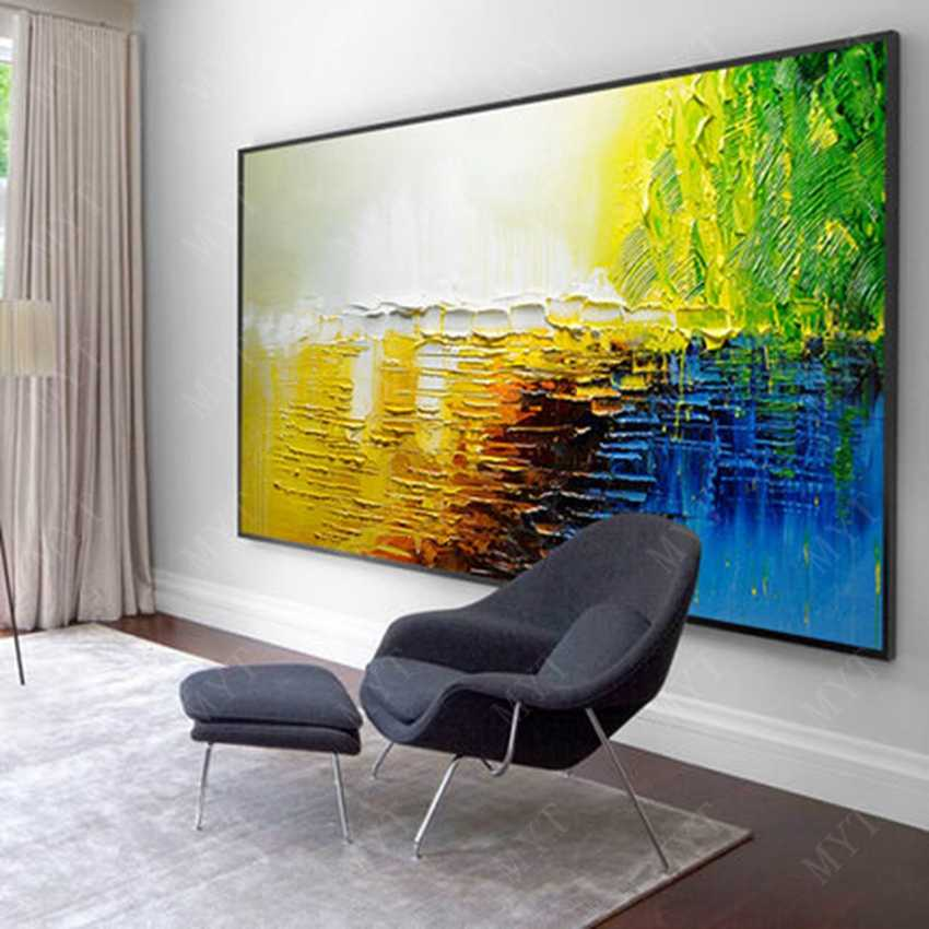 Large 100% hand-painted rose abstract modern oil painting on the canvas wall of the art wall picture for the living room decorat