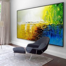 Large 100% hand-painted rose abstract modern oil painting on the canvas wall of the art wall picture for the living room decorat(China)