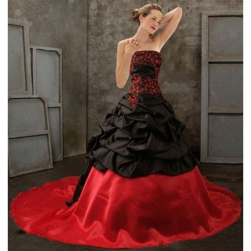 Red Wedding Dresses: Aliexpress.com : Buy 2017 Black And Red Victorian Gothic